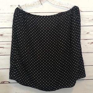 Vince Camuto Polka Dot Skirt Black XL